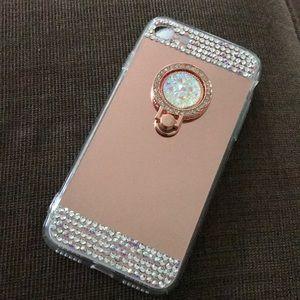 iPhone 7/8 Soft Rose Gold Mirror Case